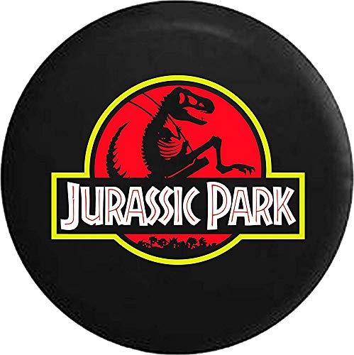 Y.Z.L. Cubierta de la llanta de Repuesto Cubierta de la Rueda de Repuesto Jurassic Park Dinosaur Skeleton (Se Adapta a: Accesorios Wrangler, SUV y RV) 14/15/16/17in