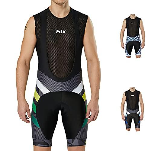 FDX - Pantaloncini da ciclismo da uomo, edizione limitata, Uomo, f, Giallo, M