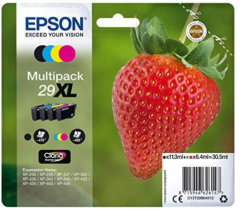 Epson 29 XL Serie Fragola Cartuccia Originale, Multipack, XL, 4 Colori, con Amazon Dash Replenishment Ready
