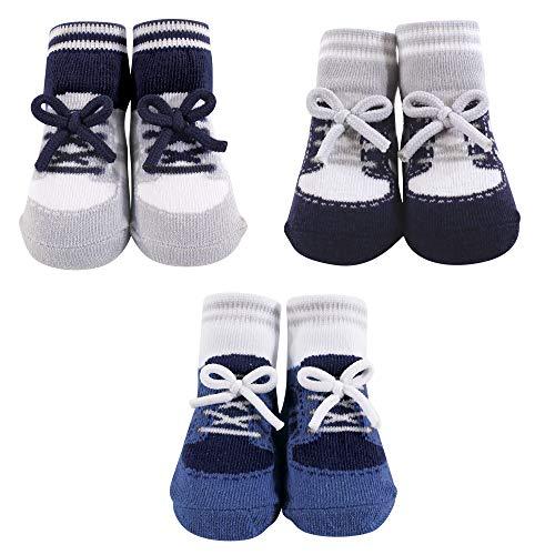 Hudson Baby Unisex Baby Socks Boxed Giftset, Blue Sneaker, One Size