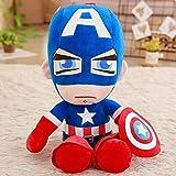 N / A Soft Stuffed Super Hero Captain America Iron Man Plush Toys The Avengers Movie Dolls for Kids Birthday Gift 35cm