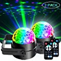 Disco Ball Lights, Party Dj Lights SPOOBOOLA Stage Lights Led 7Colors Effect Projector for Stage Lighting With Remote Control Sound Activated for Dancing Christmas Gift KTV Bar Concert Birthday …