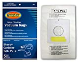 EnviroCare Replacement Micro Filtration Vacuum Cleaner Dust Bags Made to fit Sharp Type PC-2 Canisters 5 Pack