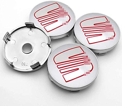 goodsmix 4 Piezas Tapas centrales para Llantas, para Seat Minimo Ibiza Leon Alhambra Exeo Toledo Altea MII TBL IBX, 60mm Neumáticos Tapacubos Modelado Accesorios de Decoracion