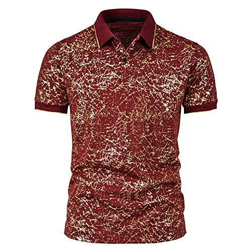 ZEZKT Camicia Uomo Basic Manica Corta Tinta Unita Golf Tennis Poloshirt Classica Estate T-Shirt Tops Sportive Maglia da Sport per Corsa Palestra Cotone Taglie Forti
