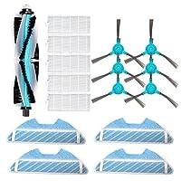 真空部品交換用ロボット交換部品メインローラーサイドブラシHEPAエアフィルターモップ布の取り替え部品フィットコンガ1290 1390ロボット掃除機スペアアクセサリー(カラー:1フィルター) (色 : Set 2)