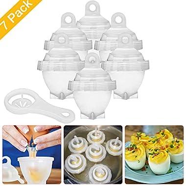 WEBSUN Boiled Egg Cooker Hard & Soft Egg Maker with Egg Separator AS SEEN ON TV, BPA Free Non Stick Boiled Egg Maker without Egg Shell