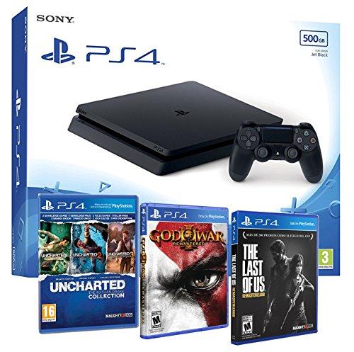 Console PlayStation 4Packs mit Spiele Slim 500Gb 500Gb - MEGAPACK 5 Juegos - PEGI 16