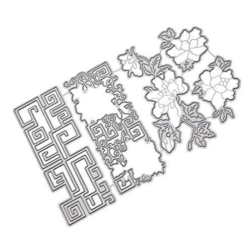 AOGOTO Neu Blume Herz Metall Schneiden Stirbt Schablonen DIY Scrapbooking Album Papier Karte