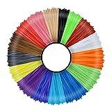 3D Pen Filament 20 Colours 10 m Each - 3D Pen Filament 1.75 mm 3D Pen Paint Set for ODRVM