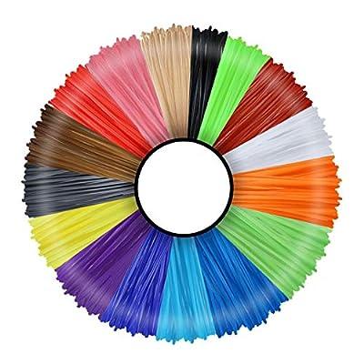 Amazon - Save 80%: 3D Pen Filament 20 Colours 10 m Each – 3D Pen Filament 1.75 mm 3D Pen…