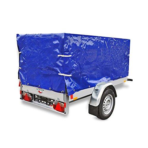 Anhänger Hochplane Blau mit Gummigurt 2090 x 1140 x 880 mm für Anhänger