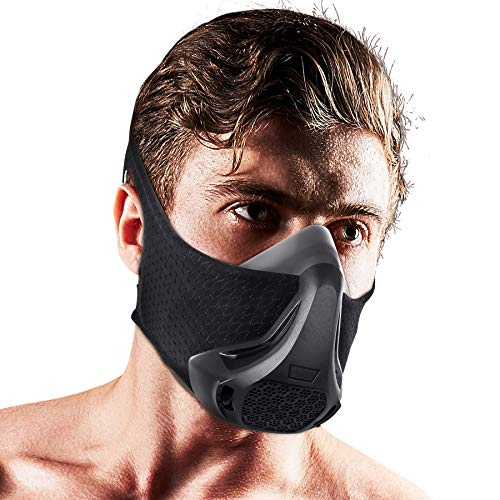 Workout Mask Elevation mask 24 Breathing Levels High Altitude Simulation Training Mask Sports Fitness Running Resistance Cardio Endurance Exercise Gym Mask for Fitness Training Sport Bane Mask