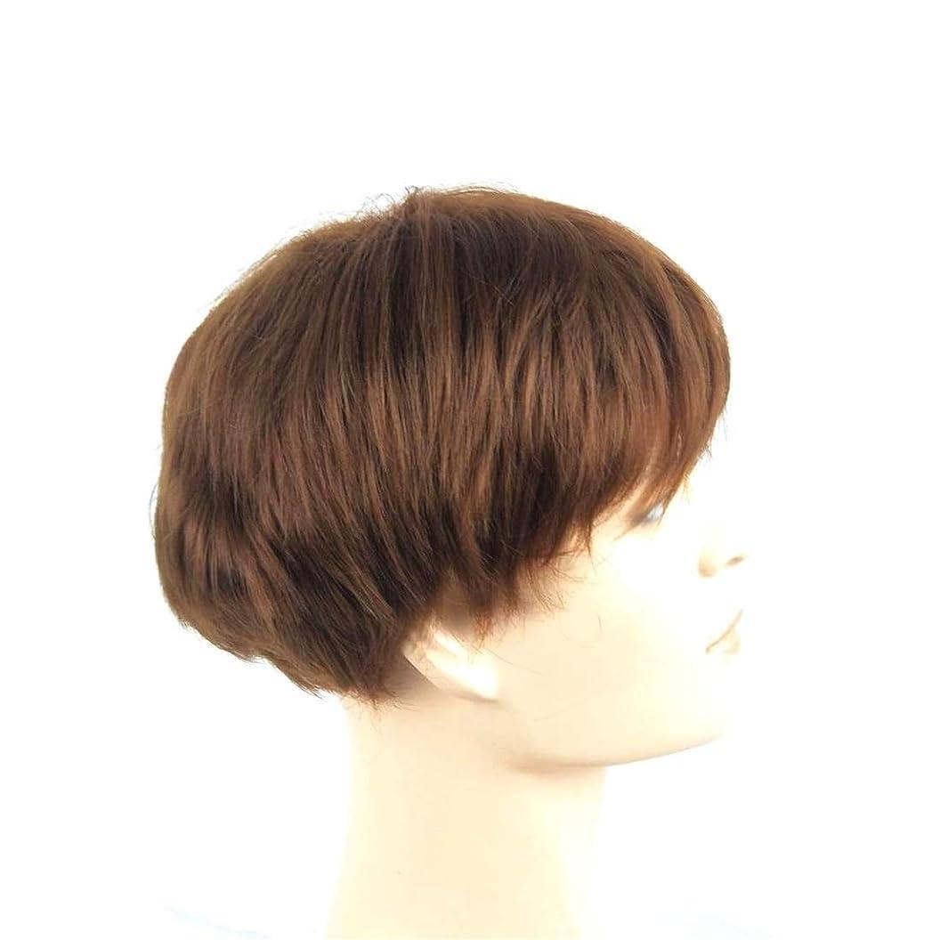 決定大脳剥ぎ取るKoloeplf 女性のための短いかつらストレート人工毛化学繊維高温ワイヤーウィッグ