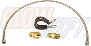 GlowShift Sensor Relocation Hose Kit for Oil & Fuel Pressure Sensors - Includes 3' Fuel Rated Steel Braided Hose, (2) -4 AN Fittings with Male & Female 1/8-27 Threads & 3/4