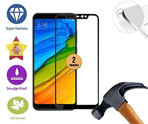case & glass 2 Unidades de Protector de Pantalla Premium 3D Cristal Vidrio Templado 9H Xiaomi MI8 SE Negro Cobertura Completa