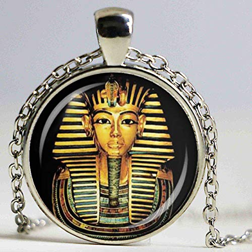 Ägyptische Pharao Glas Kuppel Anhänger Halskette Alten Ägypten Tutanchamun Historischen Schmuck Vintage Charm Geschenk