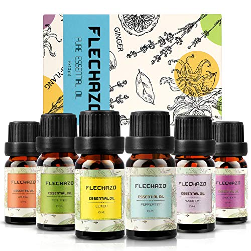 Essential Oils Set 100% Pure Therapeutic Grade Patchouli Oil Essential Oils for Aromatherapy Diffuser & Topical Use Therapeutic Grade Oils, Lavender, Eucalyptus, Peppermint and Tea Tree etc (6x10m)