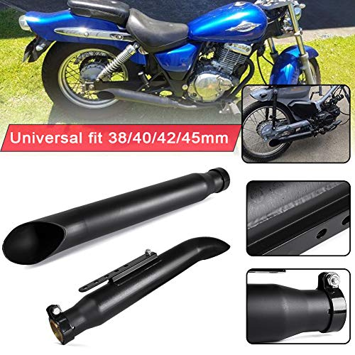 Universal 38 mm 40 mm 42 mm 45 mm Acero inoxidable Mate negro Motocicleta Slash Cut Silenciador Tubo silenciador de escape para Harley XV950 M800 1200 Custom XL883