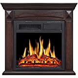 Rintuf Electric Fireplace 26'' Freestanding Electric Fireplace with Mantel,TV...