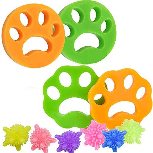 Fiyuer 4PCS Haarentferner für Waschmaschine Haustier Haarentferner für Wäsche Pet Hair Catcher Fell Reinigung Ball Tierhaarentferner