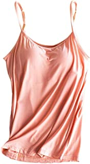 S-Fly Women Modal Wire-Free Breast Pad Blouse Tank Top Cami Blouse Shirt