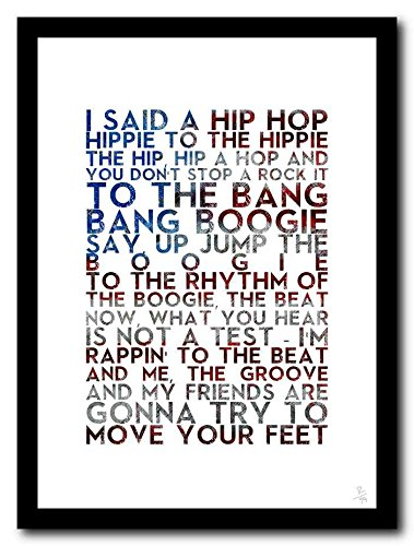The Sugarhill Gang - Rapper's Delight - A3 Typographie Poster Art Limited Edition Druck Rap Hip-Hop