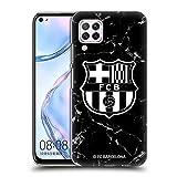 Official FC Barcelona Black Marble Crest Patterns Hard Back