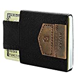 Minimalist Slim Front Pcoket Wallet-10 Card Holders-Cash&Keys Small, Dark Brown