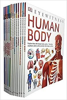 DK Eyewitness Collection 15 Books Set  Human Body,Ocean,Volcano & Earthquake,Animal,Planets,Periodic Table,Dinosaurs,Mythology,Ancient Egypt,Tudor,Victorians,Ancient Rome,Ancient Greece and More