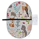 Muster niedlichen Cartoon Wald Tiere Babys Wickelauflage Wickelauflage Matte 27 x 10 Zoll wasserdicht faltbare Matte Baby tragbare Wickelstation Wickelauflagen