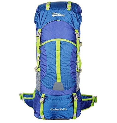 sac à dos randonnée Outdoor sac d'escalade sac à bandoulière sac à dos sac à dos Voyage 55l + 10L grande capacité hydrofuge voyage en camping-car Sacs à dos de randonnée ( Couleur : Vin rouge , taille : 55+10L )