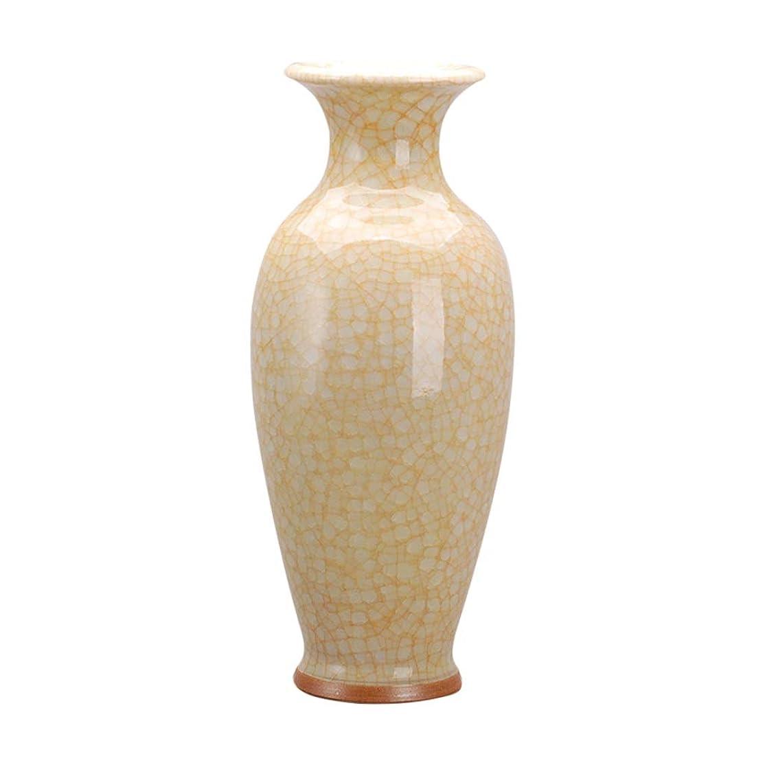 ヒントわずらわしい漫画花瓶 デコレーションホーム世帯ウェディングリビングルームベッドルームオフィス表イエロー15×35センチメートル用セラミック花瓶シンプルなハイグレード インテリア フラワーベース
