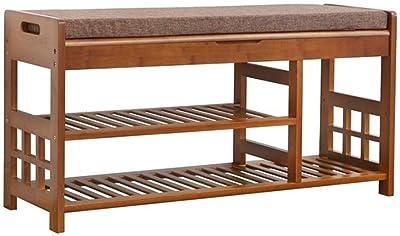 DHINGM De estilo europeo estante de madera sólida del zapato ...