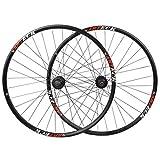 TYXTYX 700c Hybrid 26'MTB Bike Wheel Set Freno de Disco Rodamientos sellados de 8 velocidades Rotor del Cubo