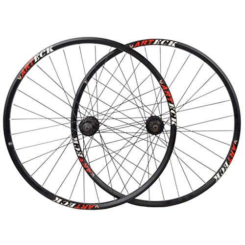 powerful Bike Wheelset-Front Wheel Rear Wheel Double Wall Rim MTB Quick Release V Brake Hybrid / Mountain…
