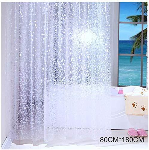 Venus valink Duschvorhang, halbtransparent Wasserdichter Duschvorhang, Kopfstein-Muster, Badedekor, Duschvorhang, Duschvorhang, 80cmx180cm