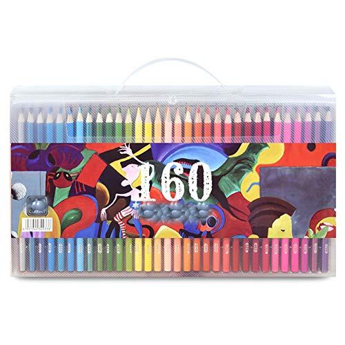Duurzame professionele 48/72/120/160 kleuren potlood soft aquarel pen houten kleur potlood set schilderij schets krijt kinderen gift,d