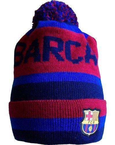 Fc Barcelone Bonnet - Collection Officielle - Supporter Barcelona - Barca - Football Liga Espagne - Taille Unique Adulte ado