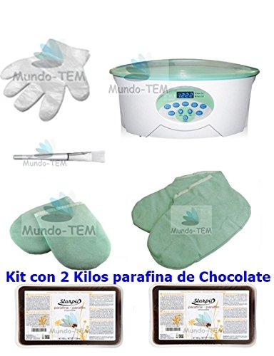 Mundo-TEM  Calentador Fundidor de parafina Digital+ Kit Completo, 2 Kilos...