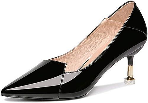 MAKAFJ Chaussures à à Talons Hauts En Cuir Verni Classique Pour Femmes Pointes Bout Pointues Sexy Talons Hauts à Talons Hauts Taille Haute Talon Haut