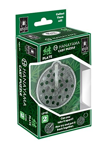 BePuzzled Plate Hanayama Cast Metal Brain Teaser Puzzle (Level 2) Puzzles For Kids & Adults Ages 12 & Up