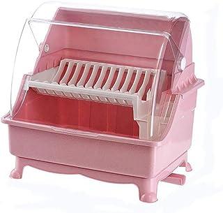 Petit éGouttoir à Vaisselle, Bac à Vaisselle en Plastique Casiers et Supports de Cuisine Panier éGouttoir avec Bec Verseur...