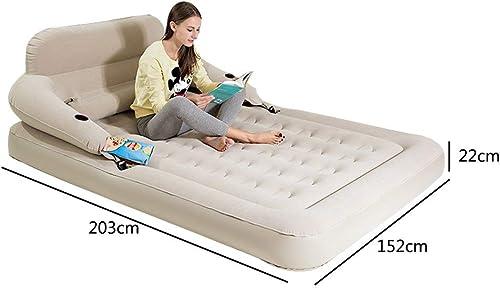 MOM Lit gonflable de ménage de matelas d'air de lit d'air de ménage d'épaisseur de lit gonflable de camping avec la pompe électrique,203X152X22cm