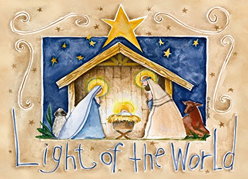 Legacy Publishing Group Boxed Holiday Greeting Cards with Scripture, Light Of the World (HBX10027)