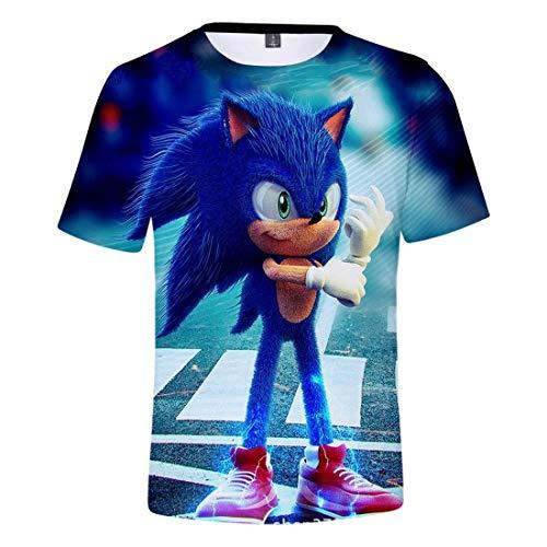 LIYIMING T-shirt Sonic The Hedgehog - Pour fille - Avec impression 3D - Pour l'été - Col rond M 08