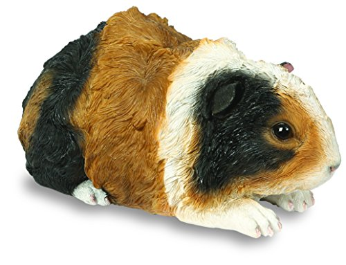 Guinea Pig Ornament - Brown Black and White Resin