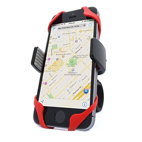 Vibrelli Universal Bike Phone Mount - Fits iPhone X, 8, 8 Plus, 7, 7 Plus, 6, 6 Plus and...