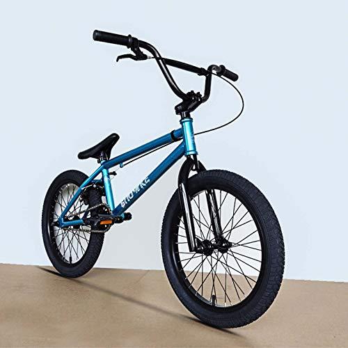 GASLIKE Bici BMX da 18 Pollici, Telaio in Acciaio al Carbonio ad Alta Resistenza, per Principianti a Livello di principiante ai Riders avanzati BMX Street Bikes 25 * 9T