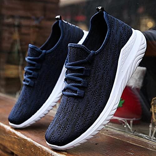 Fnho Botas de montaña Deportivas,Zapatos de Senderismo al Aire Libre,Zapatillas de Deporte al Aire Libre, Zapatos para Correr Transpirables para el Ocio-Blue_43